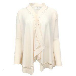 Givenchy Ivory Pearl Draped Cardigan